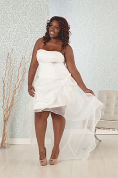 Check out the latest 2013 wedding dress trends specifically for plus size brides! Our wedding dresses are a must for curvy brides in 2013 | REAL SIZE BRIDE
