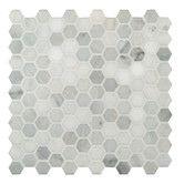 "Found it at Wayfair Supply - Arabescato Carrara 1"" x 1"" Hexagon & Dot Marble Mosaic Tile"