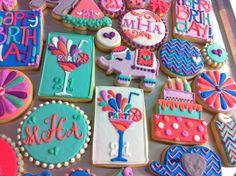 Custom 21st birthday Cookie set! - HayleyCakes And Cookies