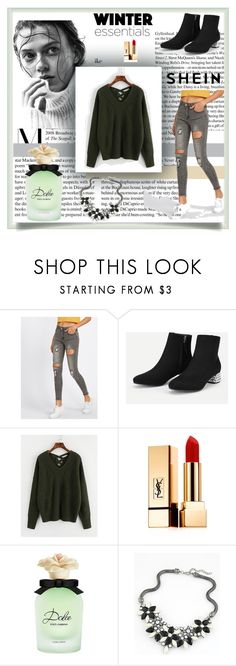 """""""Shein 20"""" by zerina913 ❤ liked on Polyvore featuring Yves Saint Laurent, Dolce&Gabbana and shein"""