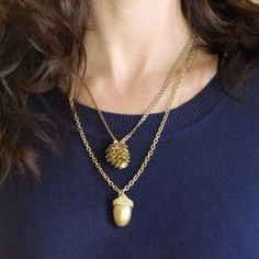 Pinecone/Acorn NecklaceFree Diy Jewelry Projects | Learn how to make jewelry - beads.us
