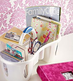 Portable Storage-- basket of calming items goes with you wherever you need!
