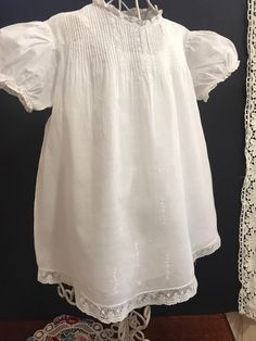Excited to share this item from my shop: Vintage Hand Embroidered Cotton Batiste Eastern Isles Heirloom Infant Gown Vintage Baby Clothes, Baby Gown, Heirloom Sewing, Vintage Fabrics, Vintage Lace, Infant, Gowns, Etsy Shop, Patterns