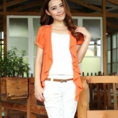Pure Color Short Sleeve Shoulder Board Cape Orange Cheap Coats, Capes For Women, Large Scarf, Cape Coat, Color Shorts, Windbreaker Jacket, Cheap Fashion, Cheap Clothes, Shoulder Sleeve