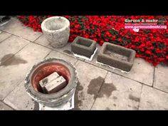 Beton giessen - Blumenkübel aus betongetränkten Tüchern / allgemeine Variante…