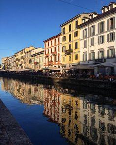Water reflection on Naviglio Grande by sandra_kukush