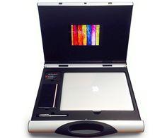 A3 Youmans Capsule houses Mark Collins' laptop, iPad mini, business cards, & moleskin.