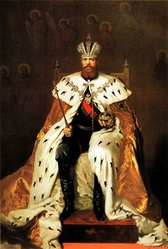 Emperor Alexander III in a coronation outfit, May 15, 1883.