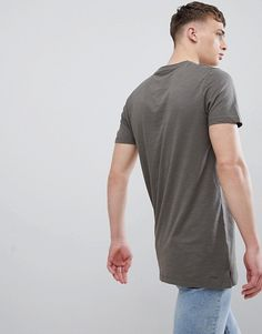 New Look   New Look – Langes T-Shirt in Khaki Asos, New Look, Casual, Mens Tops, Fashion, Moda, Fashion Styles, Fashion Illustrations