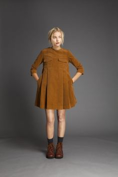 Cotton Velvet Minidress – Liisa Riski