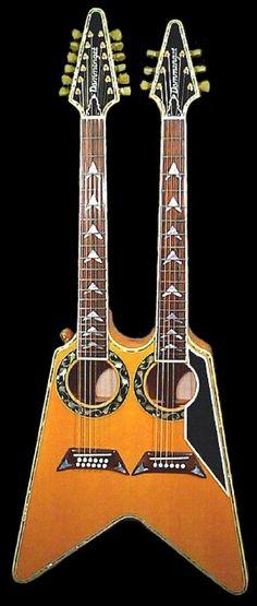 Boris Dommenget Custom Guitars Acoustic Vee double neck --- https://www.pinterest.com/lardyfatboy/