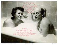 Julia and Paul, 1952.  Funny and sweet.  From the Julia Child Papers, Collection of the Schlesinger Library on the History of Women in America, Radcliffe Institute, Harvard University.