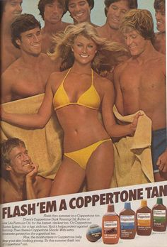 Le'ts finish with one of the most famous bikini ads ever. From 1981. | 19 Scorching Vintage Bikini Ads
