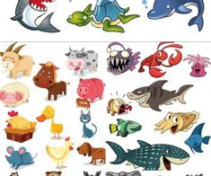 Cartoon animals vector 2