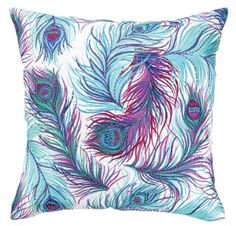 Nanette Lepore for Peking Handicraft Feather with Beads $149.99 each #interiors #decor #peacock #lowlinen #down #pillows