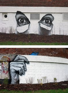 Awesome Street Art by MTO    Cool murals by French graffiti and street artist MTO.