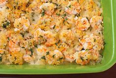 Garlicky Baked Shrimp: Toss raw shrimp with garlic and white wine; top with a mixture of panko, melted butter and parsley; bake. Serve with a big green salad and crusty bread.