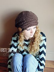 Ravelry: Dana Cable Brim Slouchy Hat pattern by Kristi Simpson
