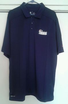 New England Patriots NFL Football Blue Nike Dri Fit Golf Polo Shirt XL NEW #Nike #NewEnglandPatriots---SOLD!