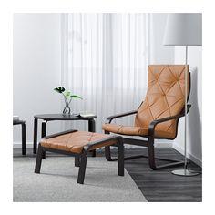 POÄNG Armchair - Seglora natural, black-brown - IKEA