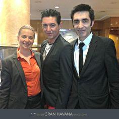 En Silken Gran Hotel Havana Barcelona nuestros compañeros Helena, subdirectora y Javier, jefe de bar con el famoso actor español Ángel Garó.  Hotel Silken Gran Havana Barcelona: http://www.hoteles-silken.com/hoteles/gran-hotel-havana-barcelona/