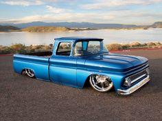 Slammed 1963 Chevy C10 Right Side View