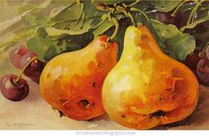Fruits. For jobs in the style of Vintage. Catherine Klein.: ♥ Creative NN. ♥