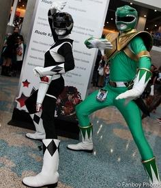 Black & Green rangers, Power Rangers cosplay.