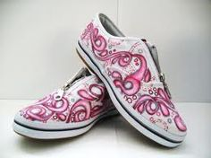 """I gave a pair of white slip on canvas shoes to my 14 year old boy (very artistic) and he and his friends have had fun using Sharpies decorating the shoes. If they are ever """"done"""" I will spray something on them to set the designs. They will eventually fade but it's a great way for teenage expression to happen."""
