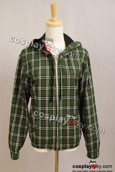 Twilight New Moon Bella Green Plaid Jacket Coat Costume | CosplaySky.com