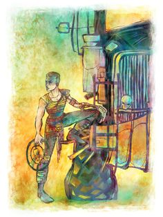 Furiosa Mad Max 8 x 10 Colorful Art Print by LemonWatercolor