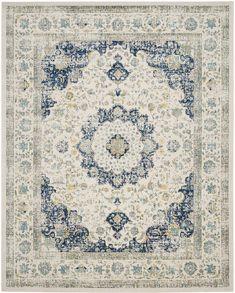 Elson Ivory & Blue Area Rug
