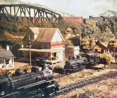 Colina, Denver & Rio Grande Western. Roy Kuykendall's Western Electric HO model railroad. From Model Railroader, 12/86