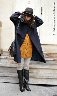 NAVY BLUE COAT // Karine Jean Daphnée coat @ Matières à réflexion