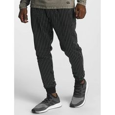 Shop online Bangastic Men's Sweat Pant Sweat in black from CompleX. pinstriped sweatpants by Bangasticdrawcord on the outside of the elastic waistband ensures excellent gripside pocketssolid material mix for a perfect fitrib knit at the leg end provide Mens Fashion Online, Online Fashion Stores, Men's Fashion, Mens Sweatpants, Men's Pants, Legs, Shopping, Black, Moda Masculina