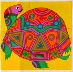 "☯☮ॐ American Hippie Psychedelic Art ~ david klein ""turtle"", 1966 Art And Illustration, Illustrations, Art Lessons Elementary, Psychedelic Art, Mellow Yellow, Art Plastique, Art Activities, Art Education, Art For Kids"