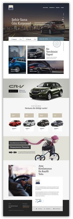 Car Rental Web Design Concept