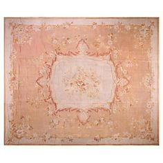 "French Aubusson Rug, 15'1"" x 18'"
