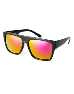 ASOS Flat Brow Sunglasses with Colour Mirror lens