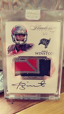 Sports Memorabilia: 2016 Flawless Ser.#D 1 2 Rare Jameis Winston On Card Auto Number Patch Bucs!! -> BUY IT NOW ONLY: $375 on eBay!