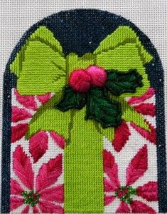 needlepoint present ornament