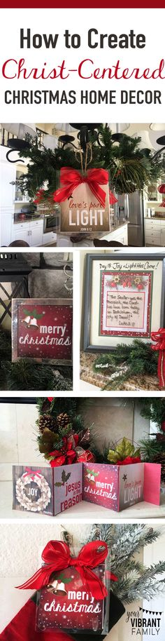 FAITH-BASED HOME DECOR: Discover how your home decor can not only set a welcoming, God-honoring atmosphere in your home but how they can be an integral part of how your family discovers the deeper meaning of Christmas!