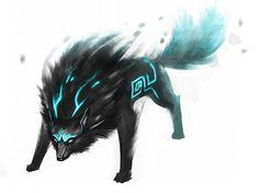 The Legend of Zelda: Twilight Princess, Wolf Link / Twili Wolf by EternaLegend on deviantART