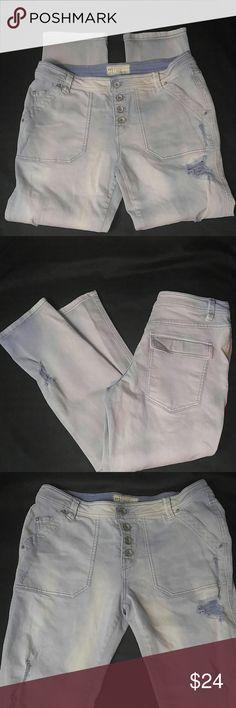 Free people light jeans Size 8 Inseam 27. Free People 61855-16515125 stretch denim skinny Jean Free People Jeans Ankle & Cropped