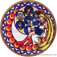 Sailor Moon's Stain Glass by Trevor911.deviantart.com on @deviantART