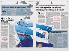 Graphic: Art Direction: Arne Depuydt Assistent Art Direction: Freek De Groote/Joris Van Aken Illustration: Nina Vandeweghe © DeMorgen
