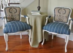 French Grainsack Chairs