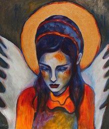 AngelGirl. Acryl auf Leinwand. 60x70 cm. 2013