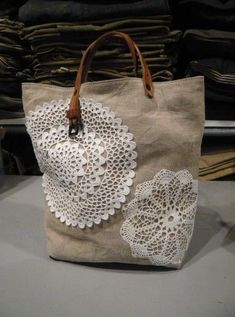 Jute Tote Bags, Reusable Tote Bags, Lace Bag, Embroidery Bags, Patchwork Bags, Denim Bag, Crochet Purses, Purses And Bags, Average Person