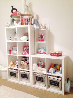 DIY: Organizador de juguetes: Ikea Módulo, Cestos